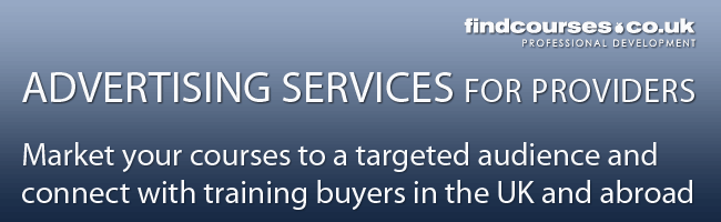 Advertising services for training providers with findcourses.co.uk