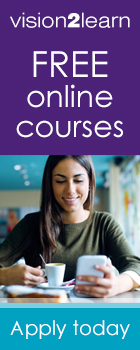 Find out about free courses with vision2learn