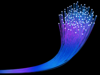 Picture of glowing fibre optics wires