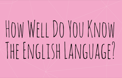 English Language Quiz