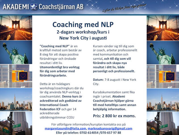 Coaching i New York!