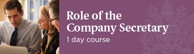 The Role of the Company Secretary Course