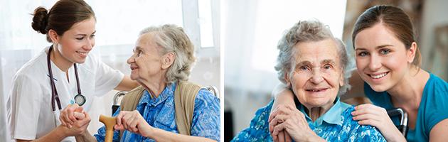 jobba på äldreboende
