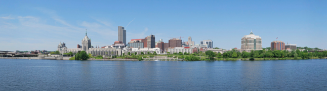 """Albany Panorama"" by UpstateNYer - Own work. Licensed under CC BY-SA 3.0 via Wikimedia Commons - https://commons.wikimedia.org/wiki/File:Albany_Panorama.jpg#/media/File:Albany_Panorama.jpg"